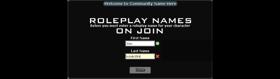 RP Name Menu [Now supports FR, DE, LT languages]