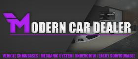 Modern Car Dealer | Showcases, Mechanic, Underglow, Easily Configurable