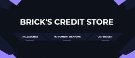 Brick's Credit Store (PointShop) - Multiple stores, suits, credits