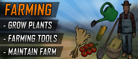 Farming (Grow Plants, Maintain Farm, Farmer Job, Sell Crops, Custom Models)