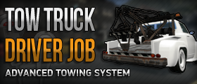 Tow Truck Driver Job (Fine System & Realistic Towing)