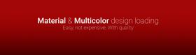 Material & Multicolor design loading