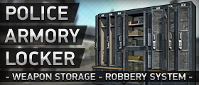 Police Armory Locker (Lockpicking, Weapon Armory & Custom Models)