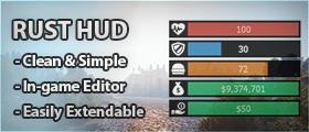Rust HUD - Beautiful and clean Rust inspired HUD