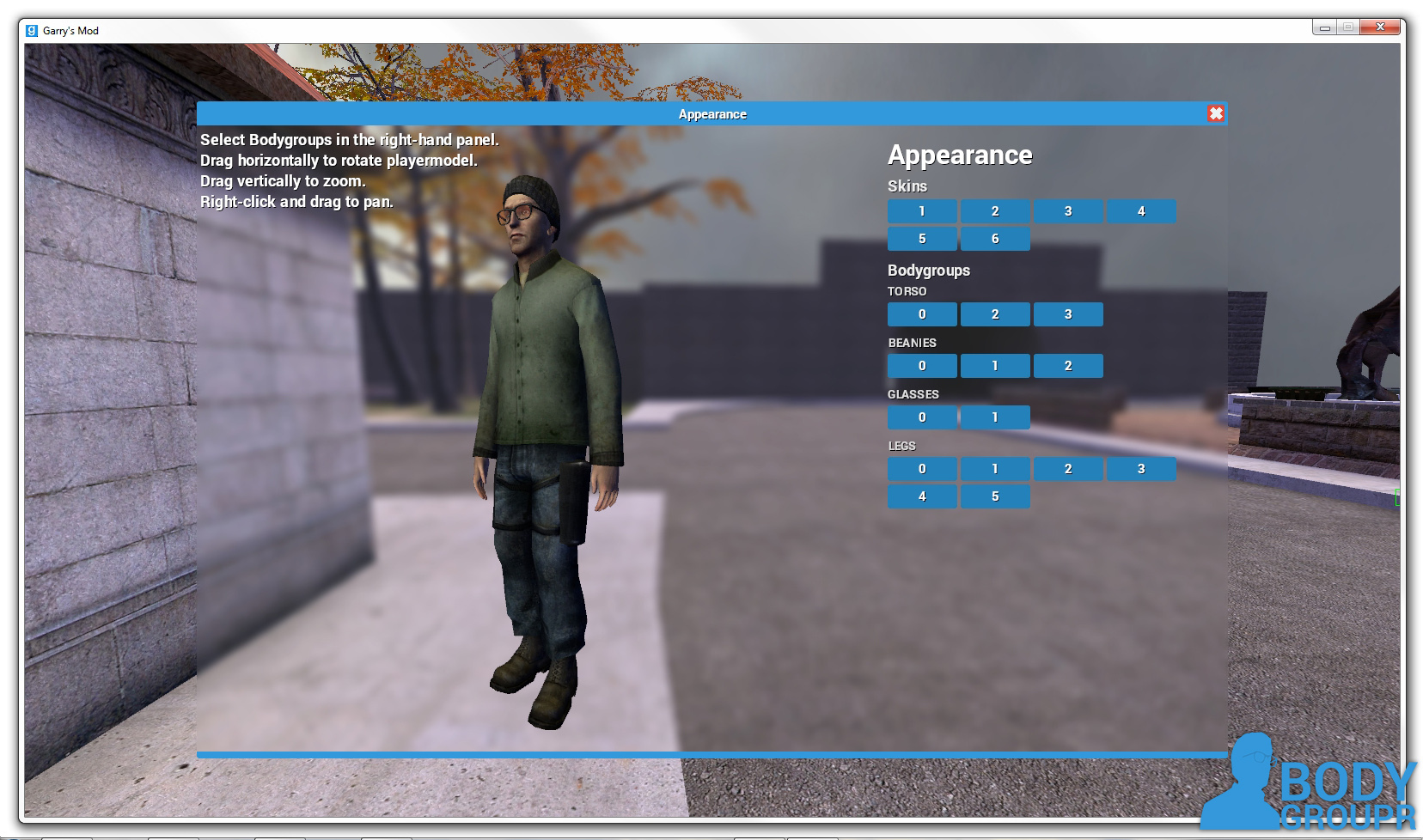 gmod how to change player model