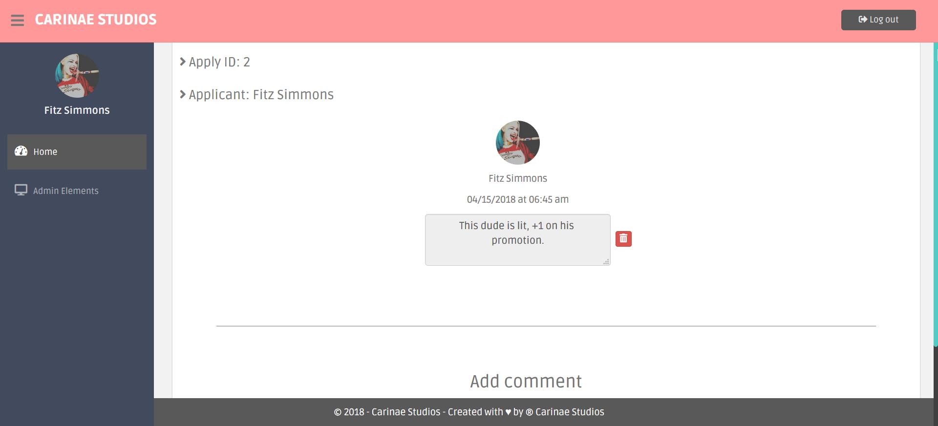 gAdmin - Staff Application System