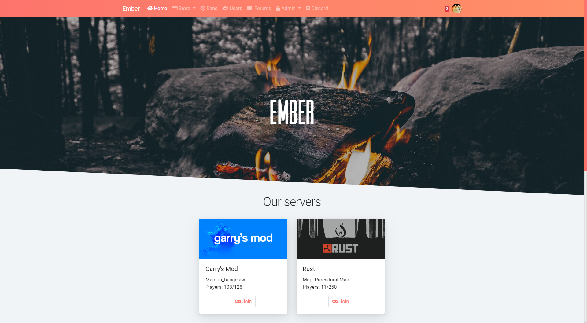Ember - donation system, bans, loading screen & landing/index page on