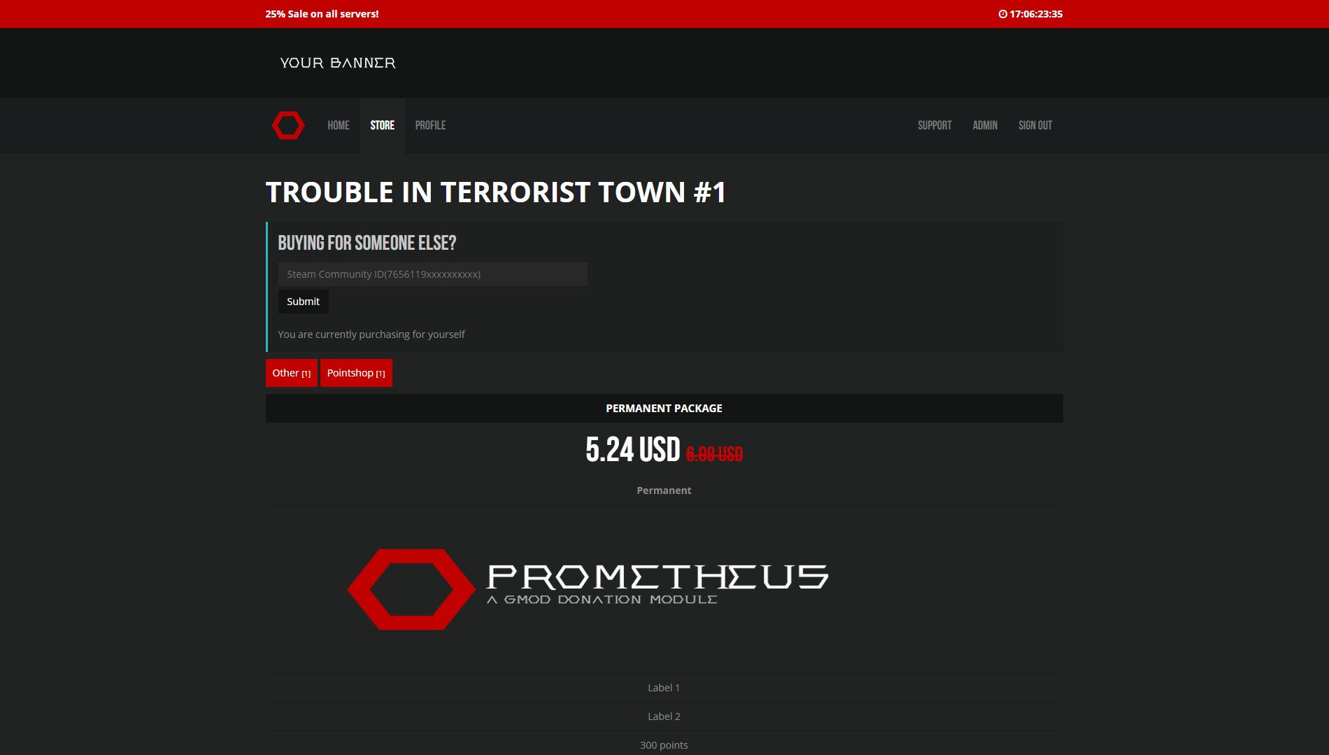 Prometheus - A GMod Donation System
