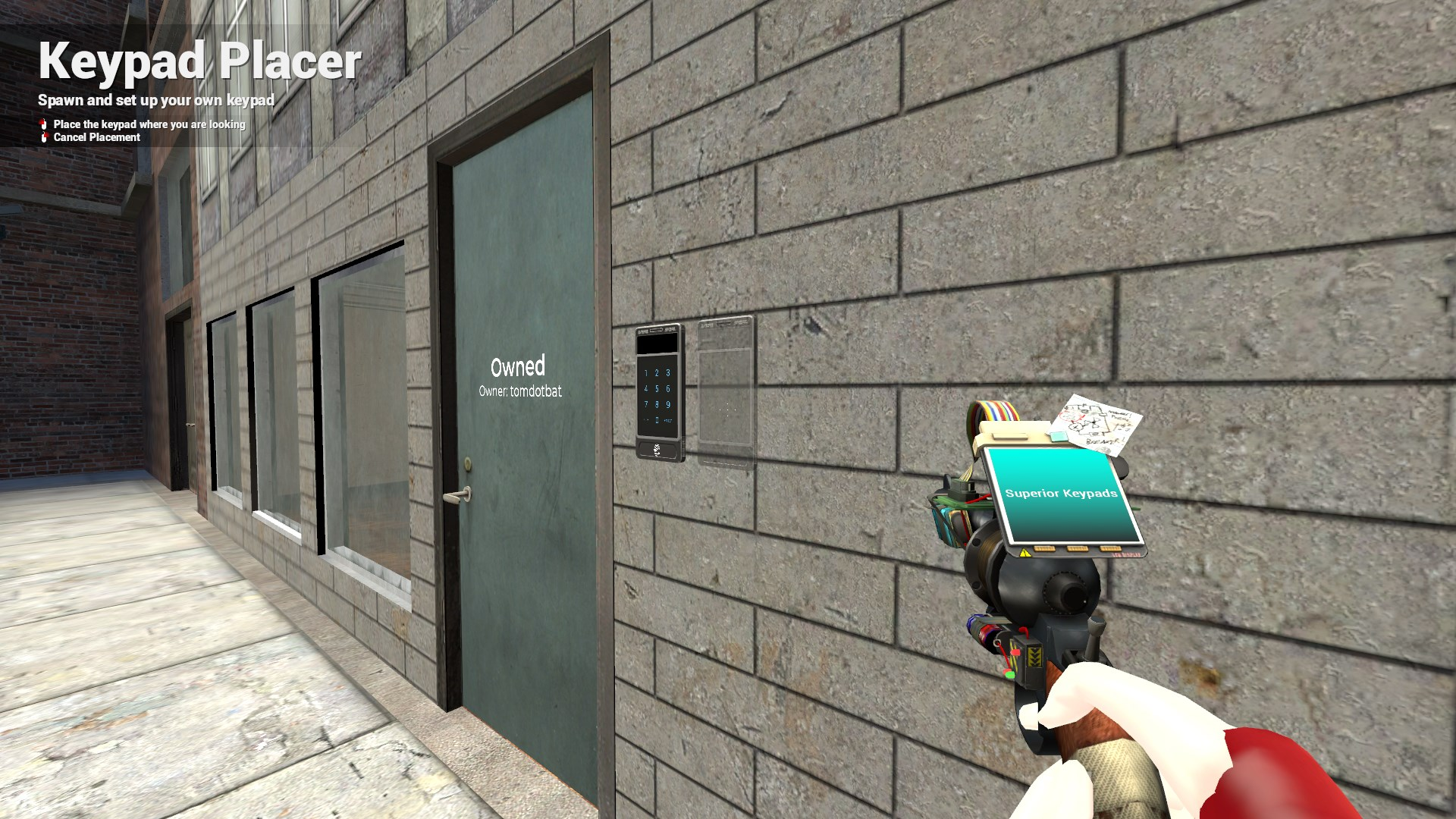 The toolgun provides easy placement for the player while also looking clean and slick