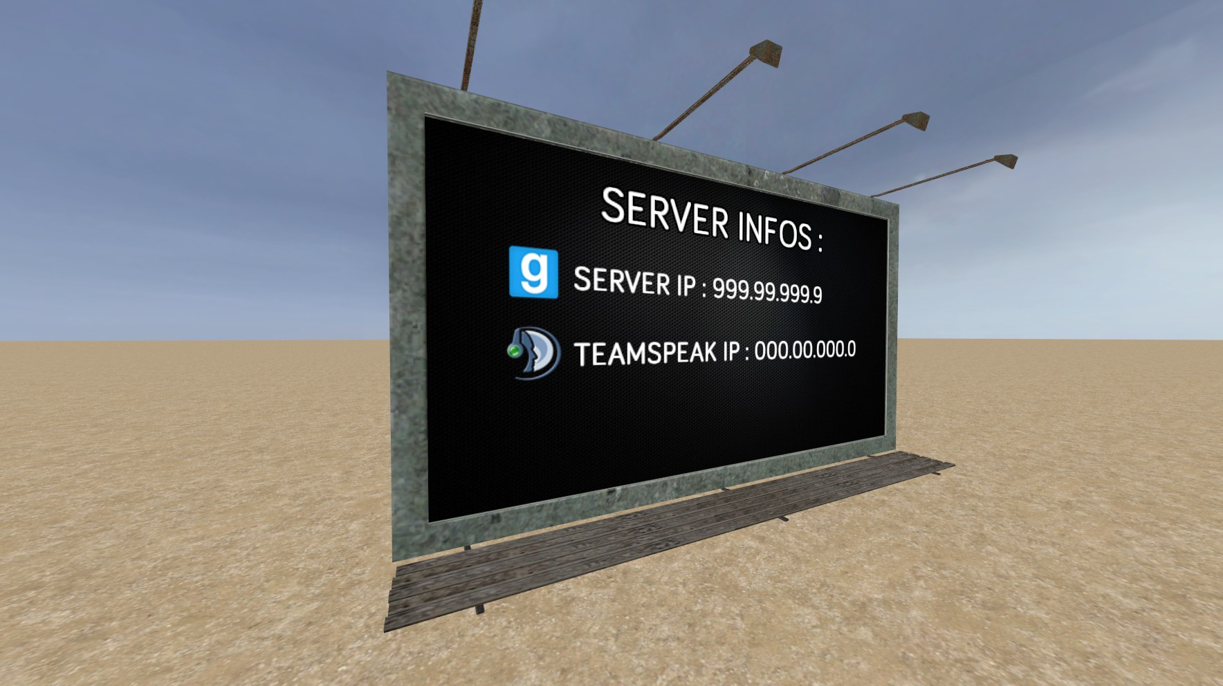 Advertisement Mod - Add realistic billboards and signs to your server