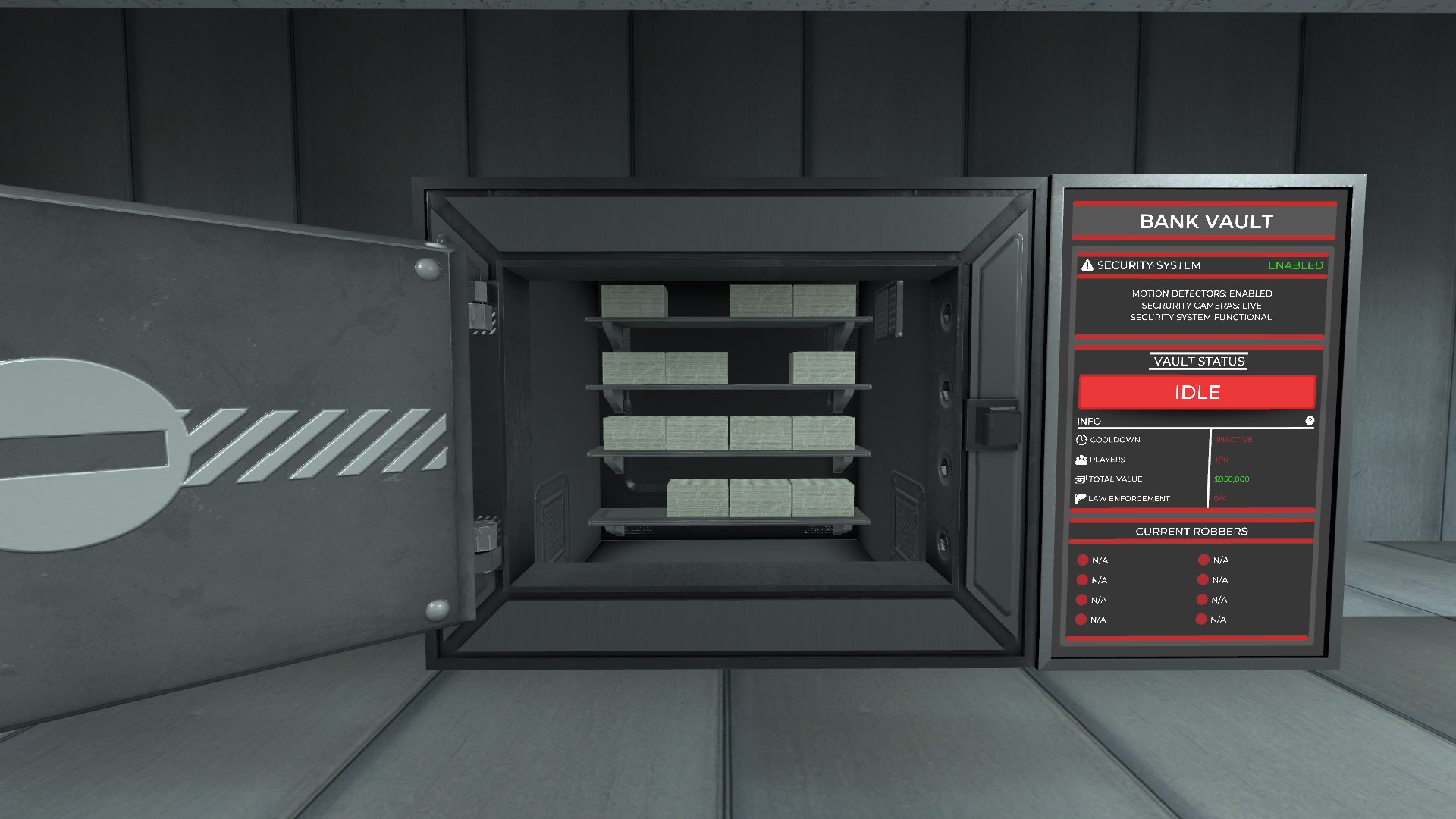 Opened vault (includes animation)