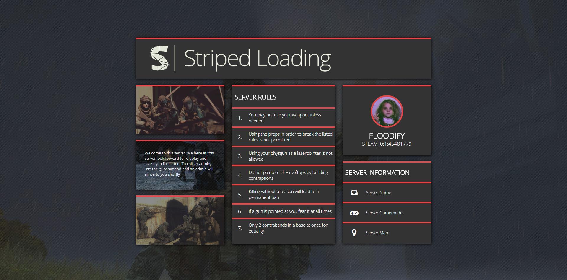 Striper Loading - A Garry's Mod loading screen