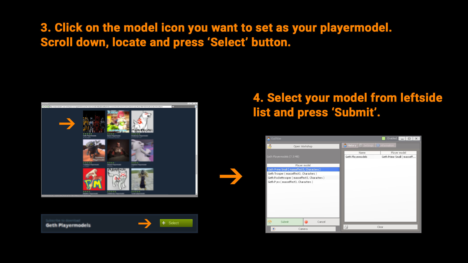 Outfitter: Multiplayer Workshop Playermodel Tool